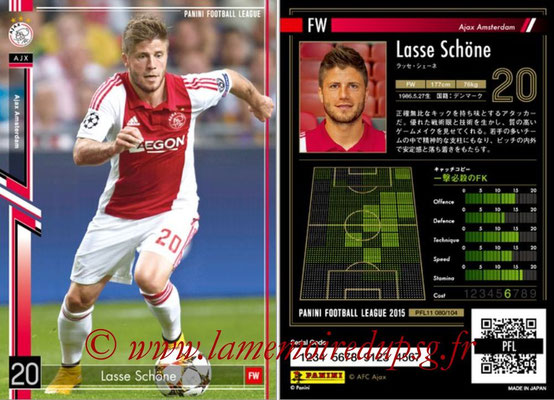 Panini Football League 2015 - PFL11 - N° 080 - Lasse SCHÖNE (Ajax)
