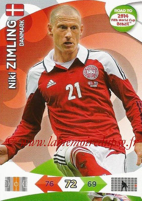 2014 - Panini Road to FIFA World Cup Brazil Adrenalyn XL - N° 043 - Niki ZIMLING (Danemark)