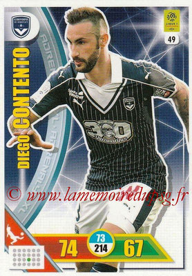 2017-18 - Panini Adrenalyn XL Ligue 1 - N° 049 - Diego CONTENTO (Bordeaux)