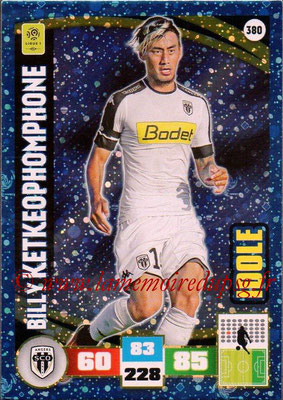 2016-17 - Panini Adrenalyn XL Ligue 1 - N° 380 - Billy KETKEOPHOMPHONE (Angers) (Idole)