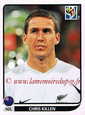 2010 - Panini FIFA World Cup South Africa Stickers - N° 464 - Chris KILLEN (Nouvelle Zelande)