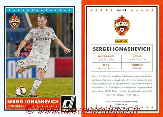 2015 - Panini Donruss Soccer - N° 051 - Sergei IGNASHEVICH (CSKA Moscou)