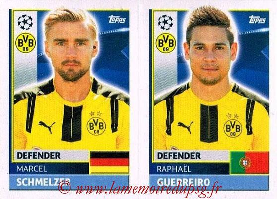 2016-17 - Topps UEFA Champions League Stickers - N° DOR 6-7 - Raphaël GUERREIRO + Marcel SCHMELZER (Borussia Dortmund)