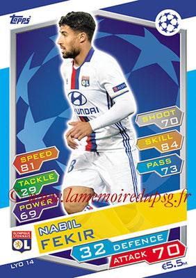 2016-17 - Topps UEFA Champions League Match Attax - N° LYO14 - Nabil FEKIR (Olympique Lyonnais)