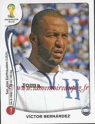2014 - Panini FIFA World Cup Brazil Stickers - N° 397 - Victor BERNARDEZ (Honduras)