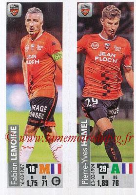 2018-19 - Panini Ligue 1 Stickers - N° 539 - Fabien LEMOINE + Pierre-Yves HAMEL (FC Lorient)