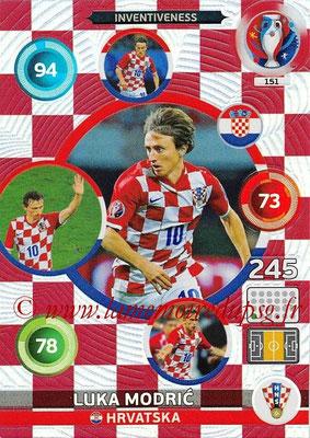Panini Euro 2016 Cards - N° 151 - Luka MODRIC (Croatie) (Inventiveness)