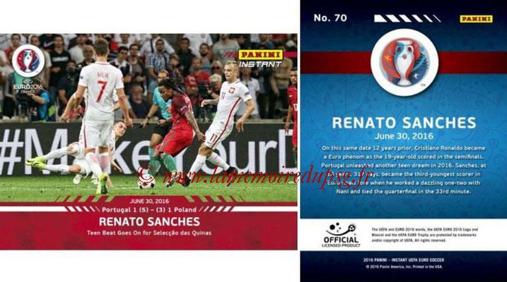 Panini Instant Euro 2016 - N° 070 - Renato SANCHES