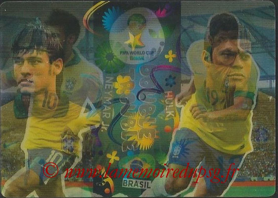 2014 - Panini FIFA World Cup Brazil Adrenalyn XL - N° 413 - NEYMAR JR & HULK (Brésil) (Double trouble)