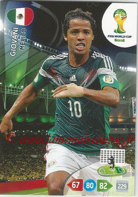 2014 - Panini FIFA World Cup Brazil Adrenalyn XL - N° 247 - GIOVANI (Mexique)