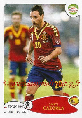 2014 - Panini Road to FIFA World Cup Brazil Stickers - N° 140 - Santi CAZORLA (Espagne)