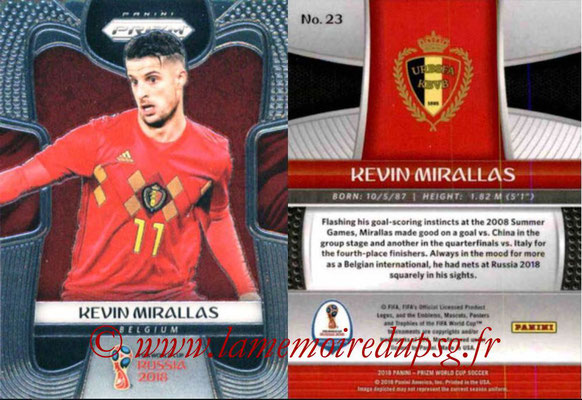 2018 - Panini Prizm FIFA World Cup Russia - N° 023 - Kevin MIRALLAS (Belgique)