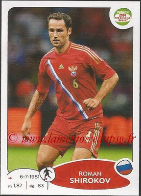 2014 - Panini Road to FIFA World Cup Brazil Stickers - N° 337 - Roman SHIROKOV (Russie)