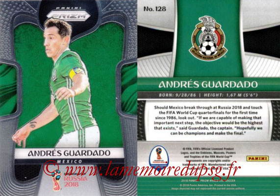 2018 - Panini Prizm FIFA World Cup Russia - N° 128 - Andres GUARDADO (Mexique)