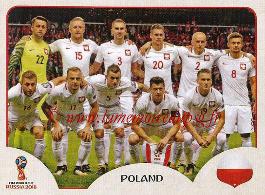 2018 - Panini FIFA World Cup Russia Stickers - N° 593 - Equipe (Pologne)
