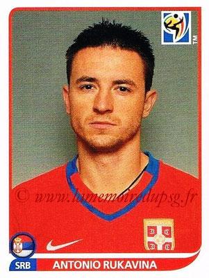 2010 - Panini FIFA World Cup South Africa Stickers - N° 302 - Antonio RUKAVINA (Serbie)