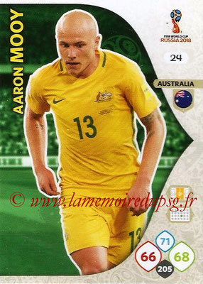 2018 - Panini FIFA World Cup Russia Adrenalyn XL - N° 024 - Aaron MOOY (Australie)