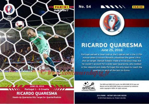 Panini Instant Euro 2016 - N° 054 - Ricardo QUARESMA