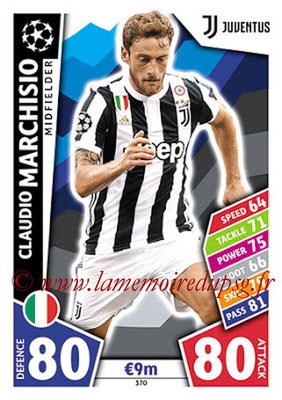 2017-18 - Topps UEFA Champions League Match Attax - N° 370 - Claudio MARCHISIO (Juventus)
