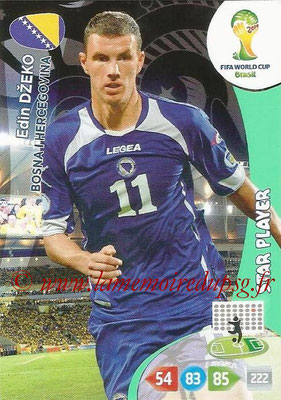 2014 - Panini FIFA World Cup Brazil Adrenalyn XL - N° 044 - Edin DZEKO (Bosnie-Herzegovine) (Star Player)