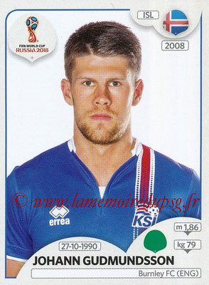 2018 - Panini FIFA World Cup Russia Stickers - N° 307 - Johann GUDMUNDSSON (Islande)