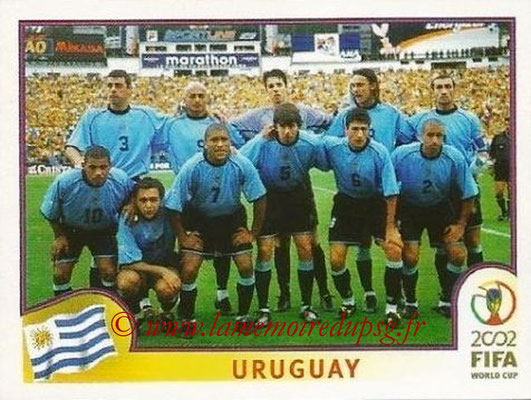 2002 - Panini FIFA World Cup Stickers - N° 061 - Equipe Uruguay