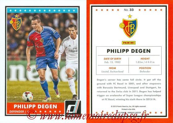 2015 - Panini Donruss Soccer - N° 033 - Philippe DEGEN (FC Basel 1893)