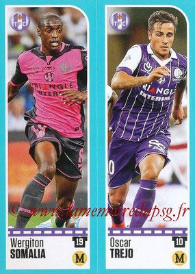 2016-17 - Panini Ligue 1 Stickers - N° 814 + 815 - Wergiton SOMALIA + Oscar TREJO (Toulouse)