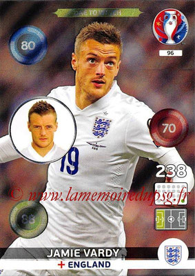Panini Euro 2016 Cards - N° 096 - Jamie VARDY (Angleterre) (One To Watch)
