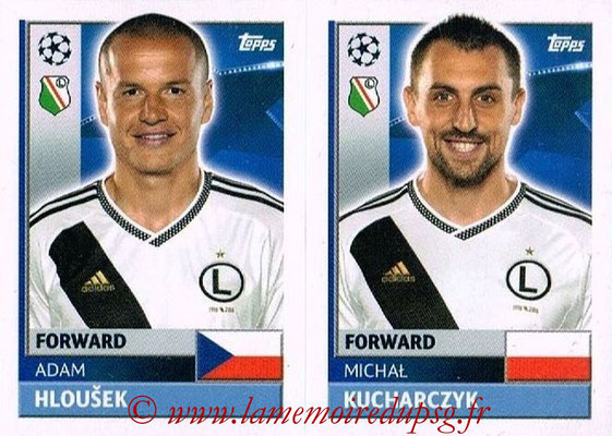 2016-17 - Topps UEFA Champions League Stickers - N° QFE 13-14 - Michal KUCHARCZYK + Adam HLOUSEK (Legia Varsovie)