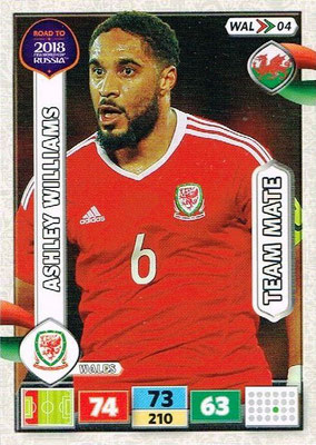 2018 - Panini Road to FIFA World Cup Russia Adrenalyn XL - N° WAL04 - Ashley WILLIAMS (Pays de Galles)