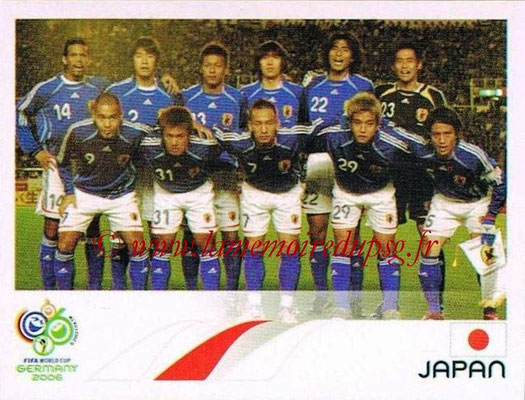 2006 - Panini FIFA World Cup Germany Stickers - N° 435 - Équipe Japon
