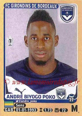 2015-16 - Panini Ligue 1 Stickers - N° 085 - André BIYOGO POKO (FC Girondins de Bordeaux)