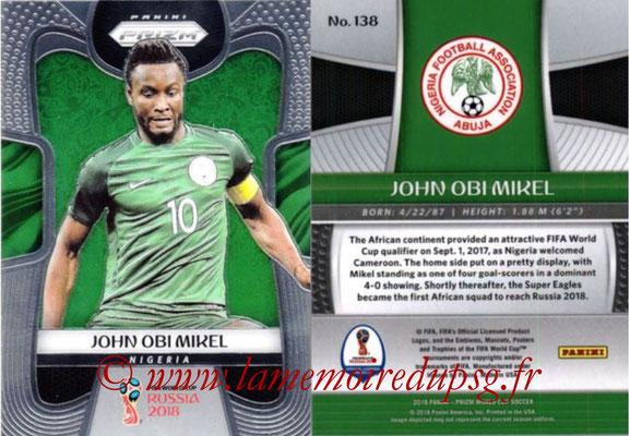 2018 - Panini Prizm FIFA World Cup Russia - N° 138 - John OBI MIKEL (Nigeria)