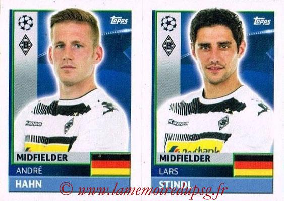 2016-17 - Topps UEFA Champions League Stickers - N° QFA 11-12 - Lars STINDL + André HAHN (VFL Borussia Mönchengladbach)