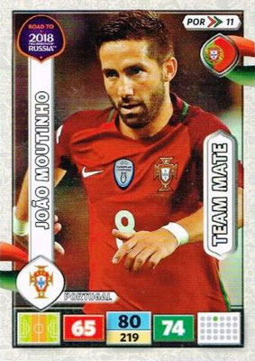 2018 - Panini Road to FIFA World Cup Russia Adrenalyn XL - N° POR11 - Joao MOUTINHO (Portugal)