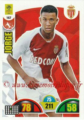 2018-19 - Panini Adrenalyn XL Ligue 1 - N° 167 - JORGE (Monaco)
