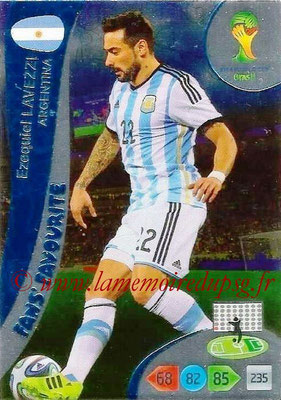2014 - Panini FIFA World Cup Brazil Adrenalyn XL - N° 325 - Ezequiel LAVEZZI (Argentine) (Fan's favorite)