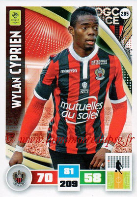 2016-17 - Panini Adrenalyn XL Ligue 1 - N° 285 - Wylan CYPRIEN (Nice)