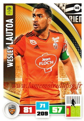 2016-17 - Panini Adrenalyn XL Ligue 1 - N° 140 - Wesley LAUTOA (Lorient)
