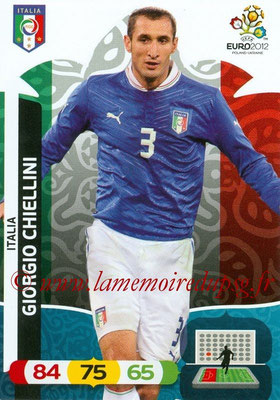 Panini Euro 2012 Cards Adrenalyn XL - N° 120 - Giorgio CHIELLINI (Italie)