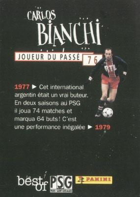 N° 076 - Carlos BIANCHI (Verso)
