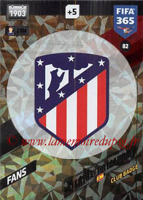 2017-18 - Panini FIFA 365 Cards - N° 082 - Logo Atletico de Madrid (Club Badge)
