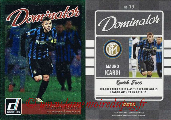 2016 - Panini Donruss Cards - N° D19 - Mauro ICARDI (FC Internazionale) (Dominator)