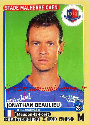 2015-16 - Panini Ligue 1 Stickers - N° 110 - Jonathan BEAULIEU (SM Caen)
