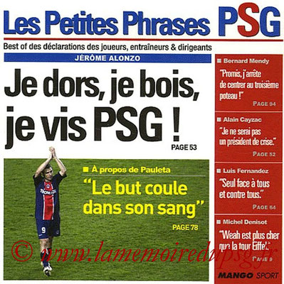 2007-03-15 - Les petites phrases du PSG (Mango Sport, 94 pages)