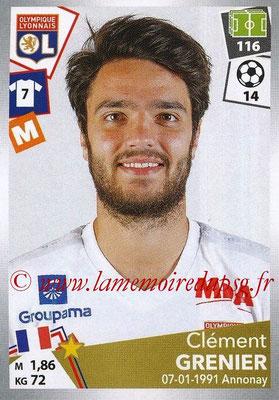 2017-18 - Panini Ligue 1 Stickers - N° 193 - Clément GRENIER (Lyon)