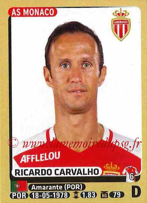 2015-16 - Panini Ligue 1 Stickers - N° 244 - Ricardo CARVALHO (AS Monaco)