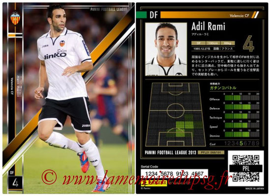 Panini Football League 2013 - PFL01 - N° 068 - Adil Rami ( Valencia CF )