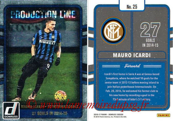 2016 - Panini Donruss Cards - N° PL25 - Mauro ICARDI (FC Internazionale) (Production Line)